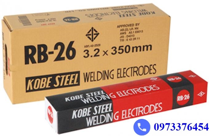 Báo giá que hàn Kobelco RB-26 nhập khẩu Thailand